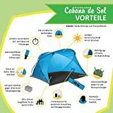 Familien-Strandmuschel Cabana de Sol, UV 50 Sonnenschutz, kleines Packmaß, windstabil -