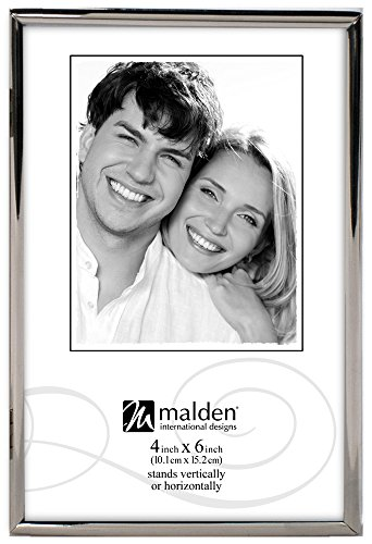 Internationale Silverplate (Malden International Designs Simplicity Bright Metal Bilderrahmen, 4x 6, Silber)