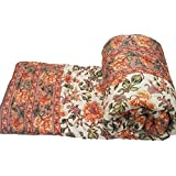 Cloud Mart aipuri Light Weight Pure Cotton Double Bed Quilt Rajai Multi