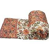 #9: Mahadev Handicrafts Jaipuri Light Weight Pure Cotton Double Bed Quilt Rajai Multi