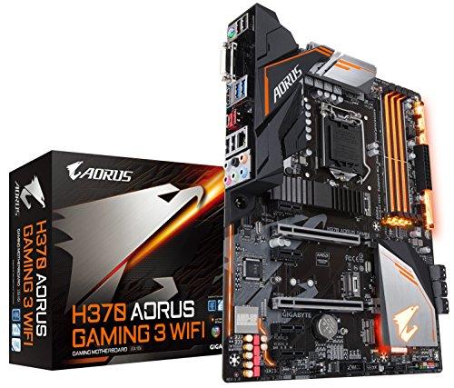 GIGABYTE H370 AORUS Gaming 3 WLAN (LGA1151/Intel/USB3.1 Gen 2 Typ A, Typ C/HDMI/M.2/ATX/DDR4/Motherboard) - Motherboard Gigabyte Lga