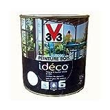 Peinture Bois Déco 500ml, V33 Peinture Bois Idéco. V33 Blanc Coco...