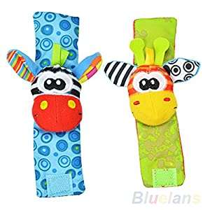 Lovely Infant Baby Foot Socks / Wristand Rattles Toys (Type 2) from Sanwood