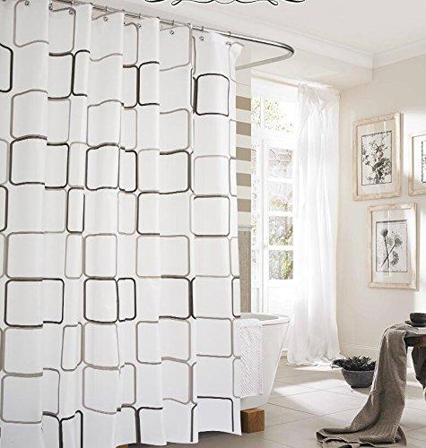 MDRW-Bad Wasserdicht Bad Partition Vorhänge Bad Weißen Eleganten Vorhang Boxw150 * H200