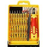 COM-FOUR® Schraubenzieher Feinmechanik Werkzeug Set 32-teilig