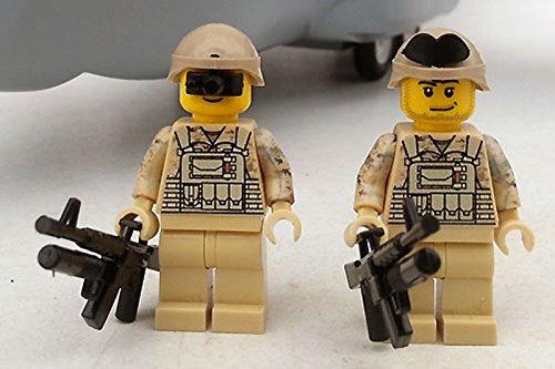 Modbrix 8830 - 2 Stück US ARMY Special Forces Soldaten inkl. M4 Sturmgewehr, Custom Figuren aus original Lego® Teilen thumbnail