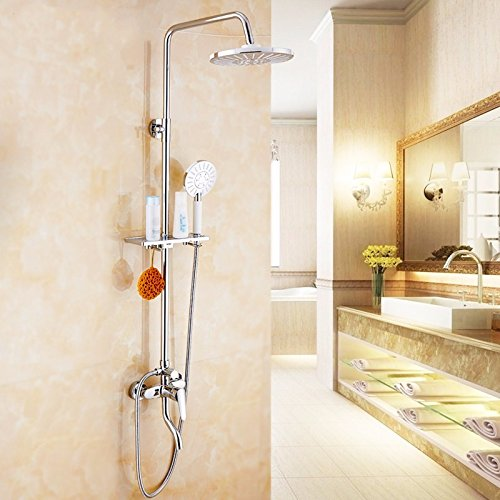 JSLCR Set doccia booster ugello rame caldo e doccia fredda bagno rubinetti bagno doccia