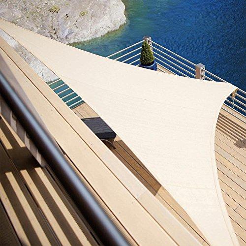Bakaji A Sonnensegel Sonnenschutz Dreieck 5Meter Schattensegel für Patio Terrasse Garten Pool mit...
