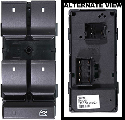 apdty-100000-power-window-switch-master-5-button-front-left-w-window-lock-button-for-2009-2012-buick