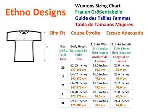 Ethno Designs Owl Wilderness - Eulen T-Shirt für Damen - Tiermotiv Shirt Ethno Designs Freizeit & Party Schwarz