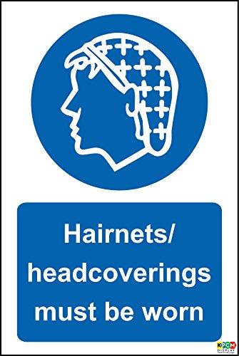 Hygiene Catering Haarnetze headcoverings zu tragen Hinweisschild