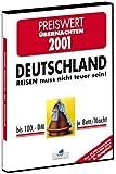 Preiswert Übernachten Deutschland 2001, 1 CD-ROM in Box Für Windows 3.1/95/98/NT/Me. Bis DM 100 je Bett/Nacht. Über 18.000 Unterkünfte in über 12.000 Orten