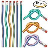 THE TWIDDLERS Confezione da 70 matite morbide e flessibili - 6 colori assortiti - Matite pieghevoli ideali per la scuola, come regalini o per riempire la calza natalizia o una borsa regalo da festa
