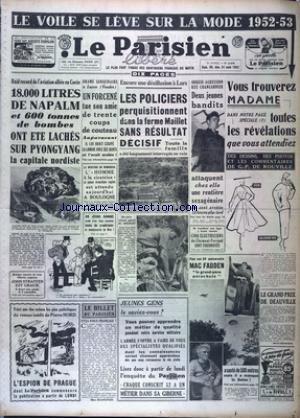 PARISIEN LIBERE EDITION DE 5 HEURES (LE) [No 2476] du 30/08/1952