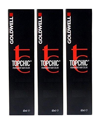 Goldwell Topchic 6NN dunkelblond extra 3 x 60 ml Haarfarbe Permanent Hair Color GW (Goldwell Topchic 6nn)
