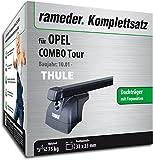 Rameder Komplettsatz, Dachträger SquareBar für Opel Combo Tour (132380-04982-1)