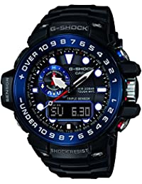 Casio G-Shock Triple Sensor GWN-1000B-1BER Reloj radiocontrolado para hombres Alímetro, Barómetro, termómetro, brújula