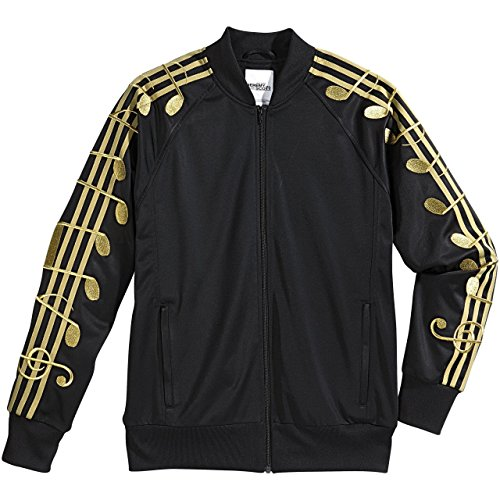 adidas Music Note TJ Jeremy Scott Gold Black Track Top Jacket M66603 (XS)