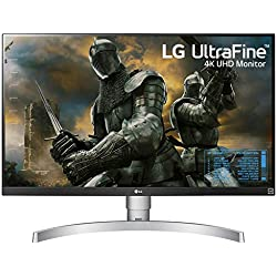 LG 27 inch 4K-UHD (3840 x 2160) HDR 10 Monitor (Gaming & Design) with IPS Panel, HDMI x 2, Display Port, AMD Freesync  - 27UK650 (White)