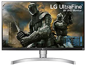 LG 27 inch 4K-UHD (3840 x 2160) HDR 10 Monitor (Gaming & Design) with IPS Panel, HDMI x 2, Display Port, AMD Freesync, Height Adjust & Pivot  - 27UK650 (White)