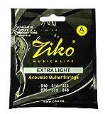 #8: Dhingra Musicals - Ziko Extra Light Acoustic Guitar strings DAG-010(6 Strings)