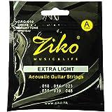 Dhingra Musicals - Ziko Extra Light Acoustic Guitar strings DAG-010(6 Strings)