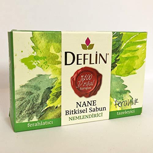 Deflin ✔ Minze & Kräutermischung Seifen - (%100 Natur Shampoo) Erfrischend - Feuchtigkeits - Frisch halten