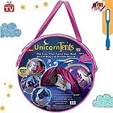Tente Kidsplaytentspop à Bedtencastles cadeaux d'anniversaire Parure de lit Décoration Flocon de neige … (Tente de licorne)
