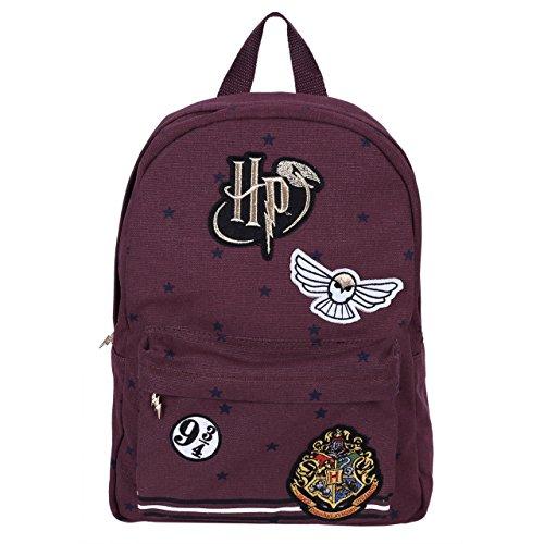 Harry Potter -:- Hogwarts Sac à dos en tissu, bordeau,...