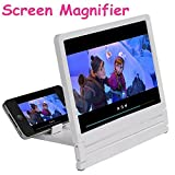 Jisen 3D Magnified Screen Magnifying Glass Holder, Mobile Video Magnifier, Mobile Phone, High
