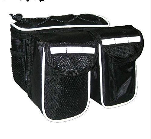 FAN4ZAME Erhöhung Der Kapazität Fahrrad Auto Tasche Wasserdicht Berg Vorderachse Querstrebe Satteltasche Reitferien Tasche Black