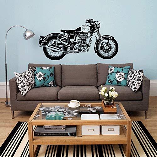 Pegatinas De Pared Royal Enfield Moto Wall Art Sticker Classic Inglés Motocicleta...