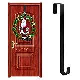 Weihnachten Tür Hängende Ornamente, Weihnachtskranz Tür Hängende Christbaumkugel Haken Kranz Aufhänger (schwarz)