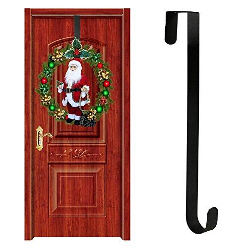 Hete-supply Türkranzaufhänger für Haustür   Weihnachtshalloween-Tür-hängende Haken-Verzierungen   Über Tür Kleiderbügel