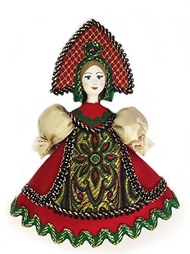 Religiöse Geschenke Russische Puppe mit kokoschnik Porzellan Face Christmas Ornament 12,7cm - Nativity Tree Christmas Set