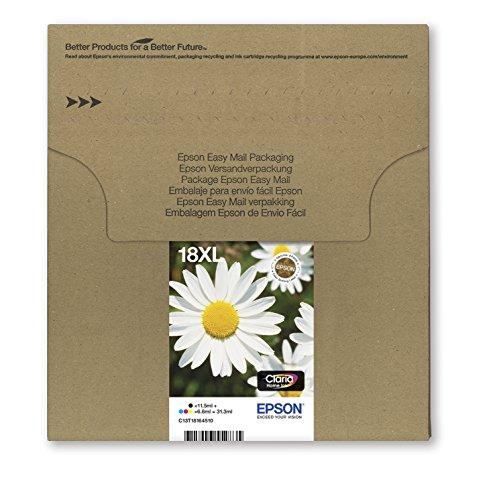 Encre d'origine EPSON Multipack Pâquerette T1816 : cartouches Noir XL, Cyan XL, Magenta XL et Jaune XL [Emballage « Déballer sans s'énerver par Amazon »]