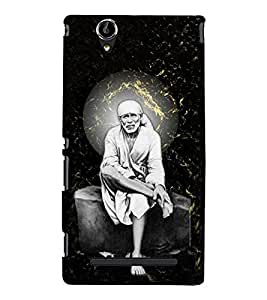 Shirdi wale Sai Baba 3D Hard Polycarbonate Designer Back Case Cover for Sony Xperia T2 Ultra :: Sony Xperia T2 Ultra Dual SIM D5322 :: Sony Xperia T2 Ultra XM50h