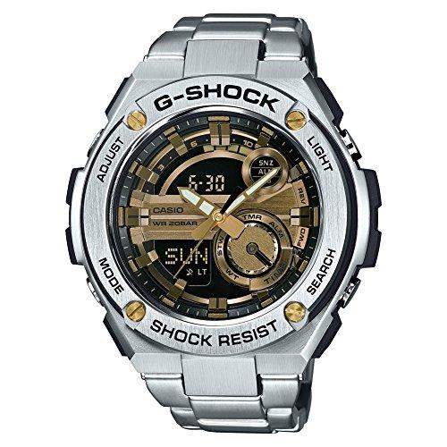 Casio Orologio Cronografo Quarzo da Uomo con Cinturino in Acciaio Inox GST-210D-9AER