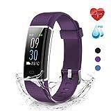 moreFit Glow Fitness Armband Uhr mit Pulsmesser,IP68 Fitness Tracker Farbdisplay ,Armbanduhr Wasserdicht mit Schlafmonitor ,Smartwatch Schrittzähler GPS für Damen/Herren