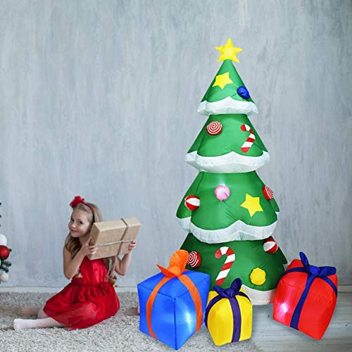 Aufblasbar Weihnachten Hof Dekorationen - Kaersishop 2,1 mt Aufblasbarer Weihnachtsbaum, Weihnachtsbaum