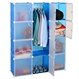 #3: Kurtzy Wardrobe Cupboard closet Cabinet 12 Door Storage Organizer Rack Shelf for Clothes living room Bedroom with instruction CD
