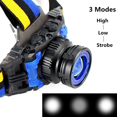 51WXVZZue8L. SS500  - YURROAD CREE Q5 LED Head Torch, Small Kids Headlamp (Included Built-in Battery,USB Charger)
