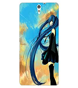 ColourCraft Girl Design Back Case Cover for SONY XPERIA C5 ULTRA