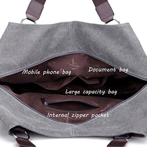 Damen-Reise-Handtasche Tasche Mode Schulter Messenger Bag Khaki