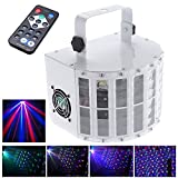 Lixada Luz de la Etapa, DMX-512 RGBW LED de 6 Canales con Remoto Control Activado por Voz Control Automático Perfecto para DJ Casa KTV Discoteca
