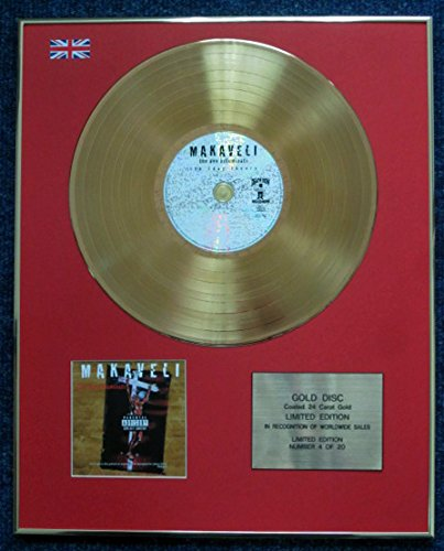 Tupac Shakur - Limited Edition CD 24 Karat Gold beschichtet LP Disc - The Don Killuminati: The 7 Tage Theory (Tupac Kostüm)