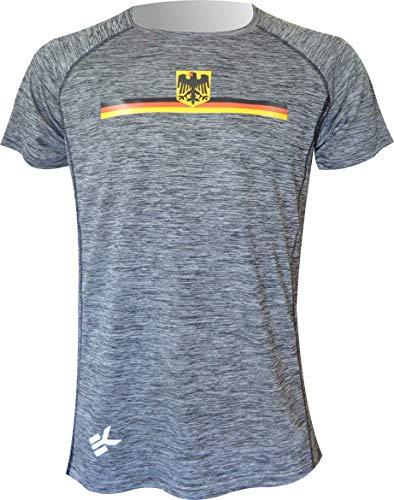 EKEKO SPORT Camiseta Alemania Modelo TEIDE, Camiseta Manga Corta, Running, Fitness, Crossfit y Deportes en General. (S)