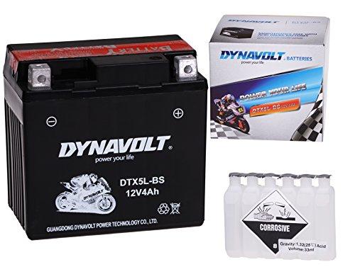 Preisvergleich Produktbild Wartungsfreie 12V Roller Batterie YTX5L-BS / DTX5L-BS für Motomojo, Motorro, MUZ / MZ, Peugeot, Piaggio, Powersports, Pulse, Puma
