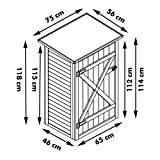 Habau 3103 Gartenschrank Flachdach, 75 x 56 x 117 cm - 3