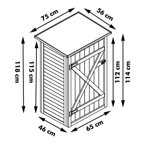 confronta il prezzo HABAU 3103 - Ripostiglio da giardino con tetto piano miglior prezzo